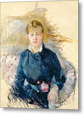 Portrait Of Louise Riesener Metal Print by Berthe Morisot