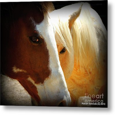 Portrait Of Tai And Woody Metal Print