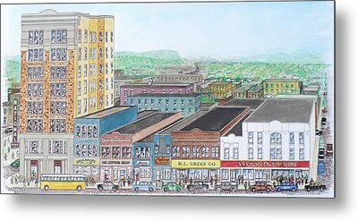 Portsmouth Ohio Dime Store Row 4th To 5th Metal Print