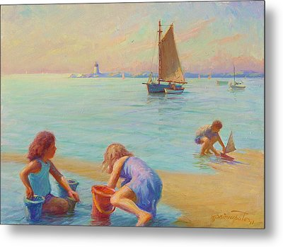 Provincetown Harbor Morning Metal Print by Ernest Principato