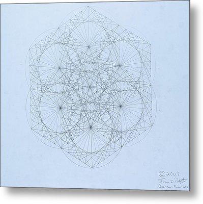 Quantum Snowflake Metal Print