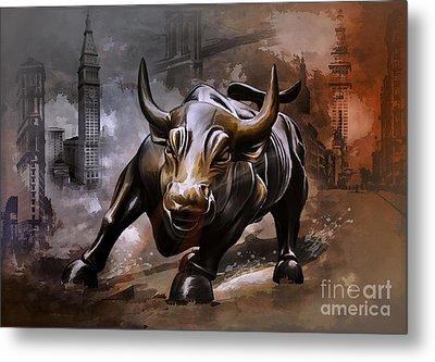 Raging Bull Metal Print
