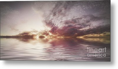 Reflection Of Mauve Skies Metal Print by Holly Martin