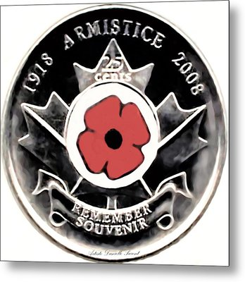 Remember Armistice Jour Du Souvenir  Metal Print by Danielle  Parent