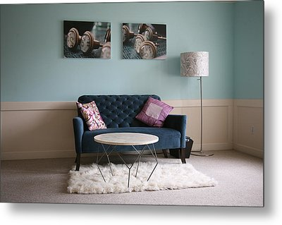 Metal Print featuring the photograph  Retro Modern ..... by Lynn England