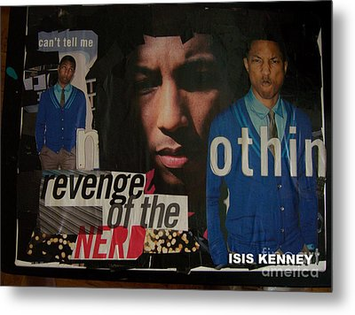 Revenge Of The Nerd Pharrell Williams Metal Print by Isis Kenney