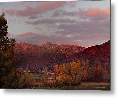 Rocky Peak Autumn Sunset Metal Print