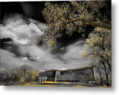 Rowing Building Metal Print
