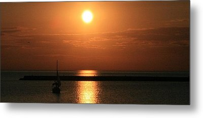 Sailboat A Drift Metal Print