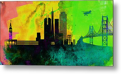 San Francisco City Skyline Metal Print