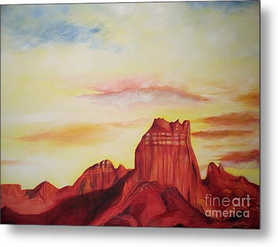 Metal Print featuring the painting  Sedona Az by Eric  Schiabor