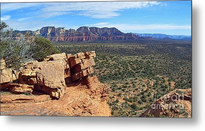 Sedona View From Roober Roost Metal Print by Sin D Piantek