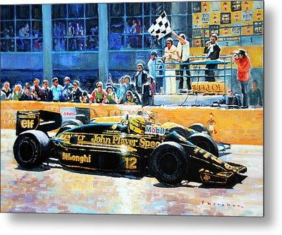 Senna Vs Mansell F1 Spanish Gp 1986 Metal Print by Yuriy Shevchuk