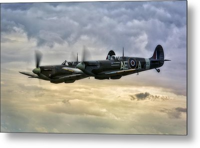 Spitfires Double Trouble Metal Print by Jason Green