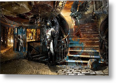 Stairway To Heaven Vs. Stairwell To Hell Metal Print by George Grie