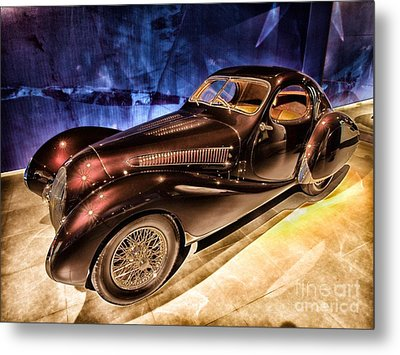Metal Print featuring the photograph  Talbot Lago 1937 Car Automobile Hdr Vehicle  by Paul Fearn