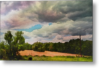 Metal Print featuring the painting  Tennessee Landscape by Joan Reese
