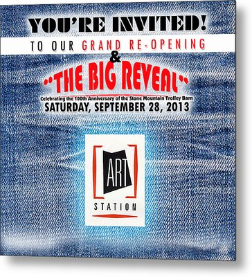 The Big Reveal Metal Print