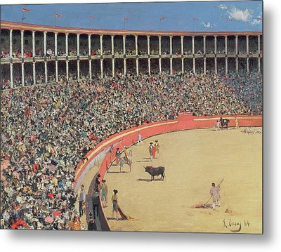 The Bullfight Metal Print by Ramon Casas i Carbo