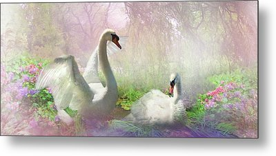 The Lightness Of Being Metal Print by Trudi Simmonds