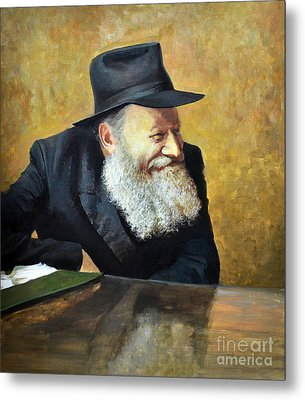 The Lubavitcher Rebbe Smiling Metal Print by Eugene Maksim