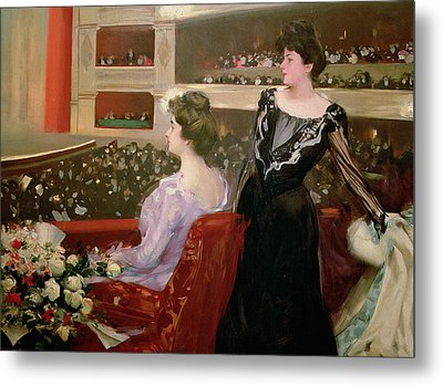 The Lyceum Metal Print by Ramon Casas i Carbo