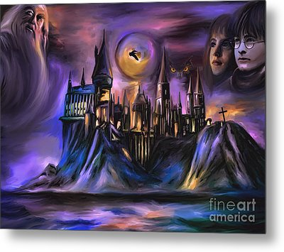 The Magic Castle I. Metal Print by Andrzej Szczerski