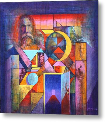 The Pythagoras Door Metal Print by J W Kelly