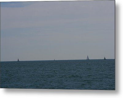 Four Yachts At Sea Metal Print