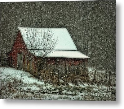 Tiny Stable Metal Print by Brenda Bostic