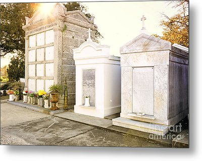 Metal Print featuring the photograph   Tombstones  by Erika Weber