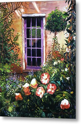 Tuscan Villa Garden Metal Print by David Lloyd Glover