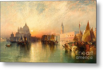 View Of Venice Metal Print by Thomas Moran