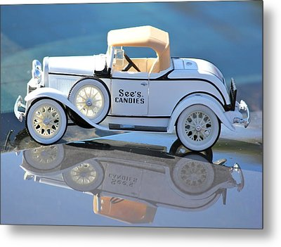 Metal Print featuring the photograph  Vintage Car by Lorna Maza