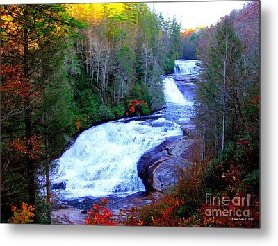 Metal Print featuring the photograph  Waterfall At Dupont Forest Nc 2 by Annie Zeno