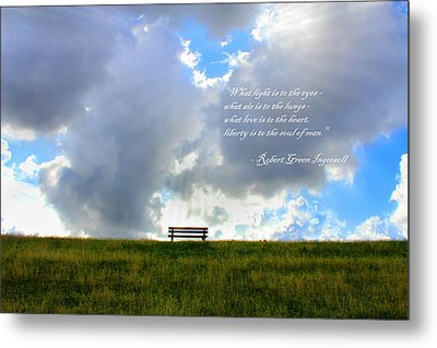 What Light Is To The Eyes... Metal Print by Julia Fine Art And Photography