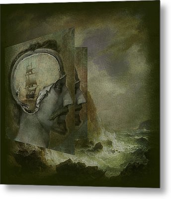 When A Man's Thoughts Turn Toward The Sea Metal Print by Jeff Burgess