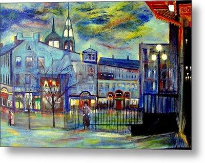 When Night Falls   Quebec City Metal Print by Rick Todaro