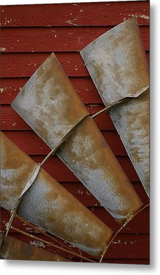 Metal Print featuring the photograph  Windfan Leaning by Randy Pollard