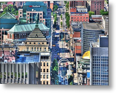 0024 Visual Highs Of The Queen City ...main St... Metal Print