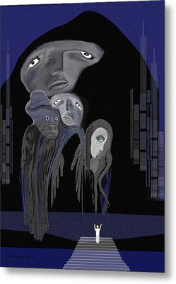 004 - Arrival Of The Gods  Metal Print by Irmgard Schoendorf Welch