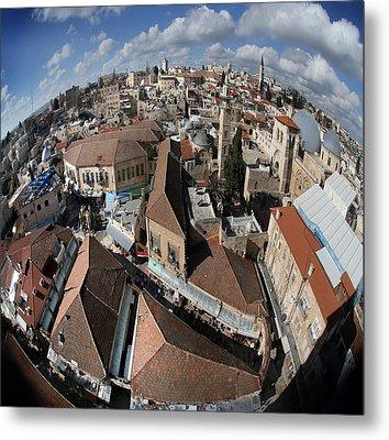 005 Globus Of Jerusalem Metal Print by Alex Kolomoisky
