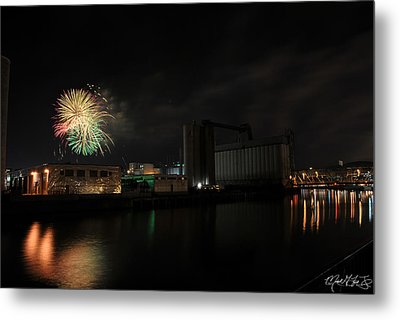 005 ...the Bombs Bursting In Air...4jul13 Series Metal Print by Michael Frank Jr
