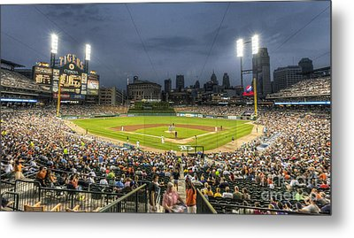 0101 Comerica Park - Detroit Michigan Metal Print by Steve Sturgill
