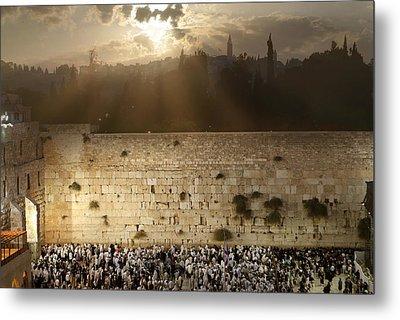 018 Jerusalem Metal Print by Alex Kolomoisky