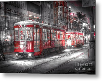 0271 Canal Street Trolley - New Orleans Metal Print