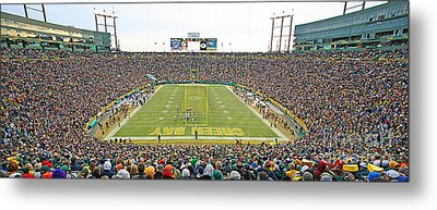 0349 Lambeau Field Panoramic Metal Print by Steve Sturgill