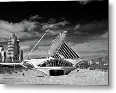 0352 Milwaukee Art Museum Infrared Metal Print by Steve Sturgill