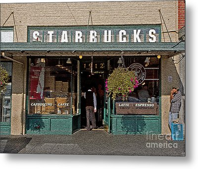 0370 First Starbucks Metal Print by Steve Sturgill