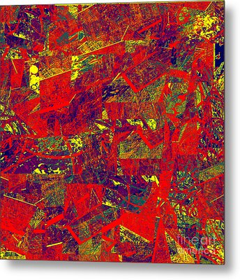 0384 Abstract Thought Metal Print